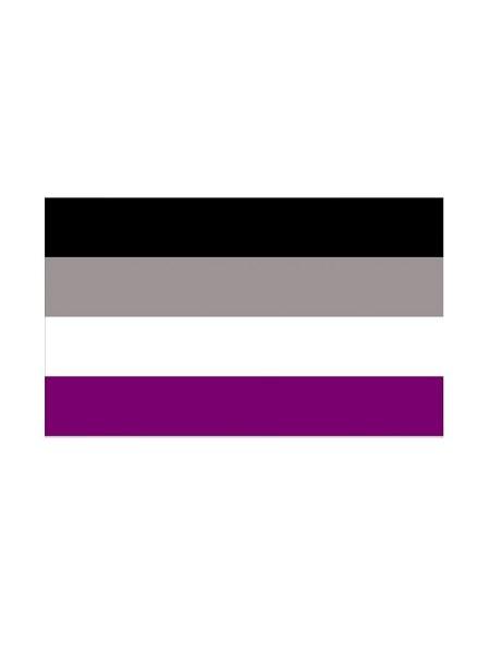 Asexual Flag Aufkleber / Sticker 5.0 x 7,6 cm / 2 x 3 inch