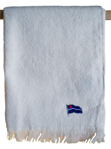 Leather Flag Towel/Handtuch White 40x66 cm / 16x26 inch