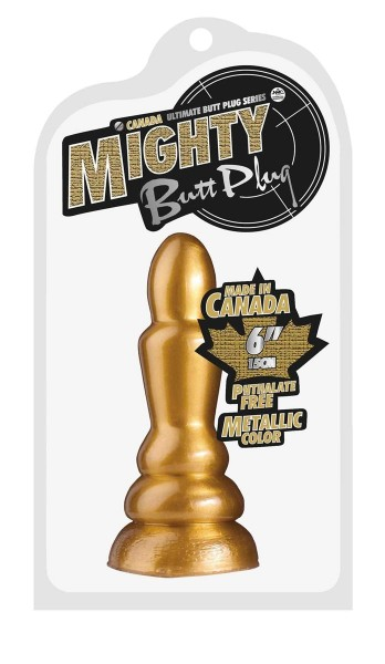 Mighty Butt Plug Metallic Color ca.15.0cm gold