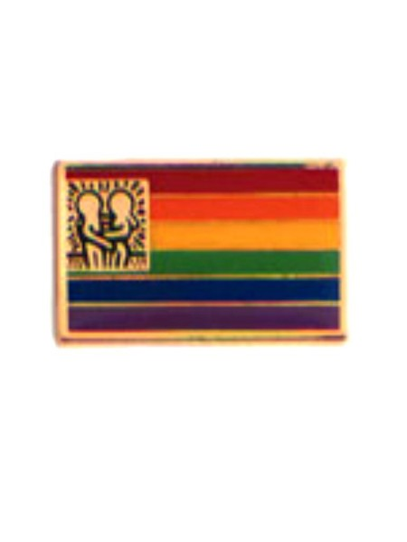 Pin Rainbow Flag w/Design