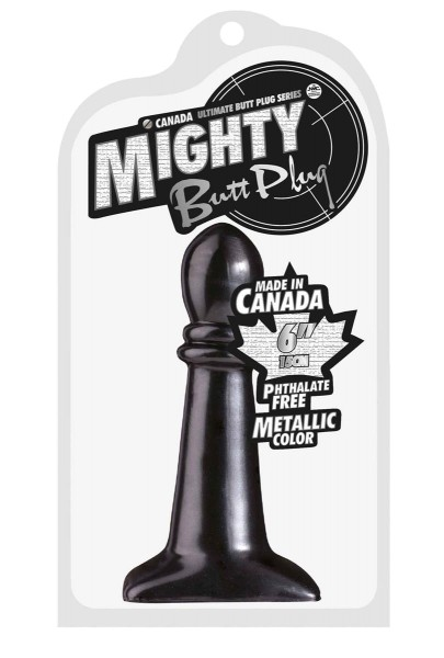 Mighty Butt Plug Metallic Color ca.15.0cm black